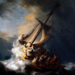 Christ in the Storm on the Lake of Galilee. Rembrandt.